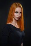 Red hair woman Royalty Free Stock Photos