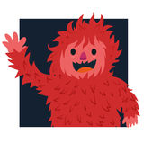 Red hair of yeti Royalty Free Stock Photo