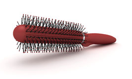 Red hairbrush Royalty Free Stock Images