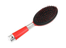 Red hairbrush Royalty Free Stock Photo