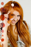 Red-haired девушка стоковое изображение