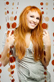 Red-haired девушка стоковые фотографии rf