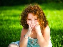 Red-haired девушка стоковое изображение rf