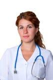 Red-haired доктор врача стоковые фотографии rf