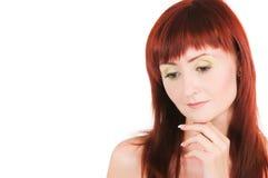Red-haired красотка стоковое изображение rf
