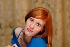 Red-haired Royalty Free Stock Image