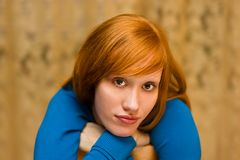 Red-haired_2 Stock Photos