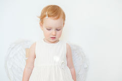 Red-haired angel girl Stock Photography