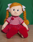 Red haired baby doll Stock Image