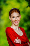 Red-haired beautiful young woman Royalty Free Stock Images