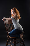 Red-haired beauty Stock Image