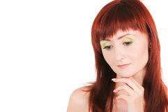 The red-haired beauty Royalty Free Stock Image