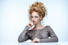 Red-haired beauty Royalty Free Stock Image
