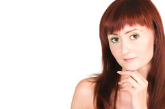 The red-haired beauty Royalty Free Stock Photos