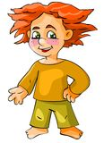 Red-haired boy Stock Photography