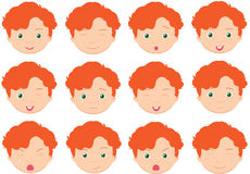 Red-haired boy emotions: joy Royalty Free Stock Image