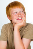 Red haired boy Royalty Free Stock Photography