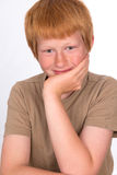 Red haired boy Stock Image