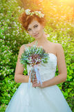 Red-haired bride Royalty Free Stock Photo
