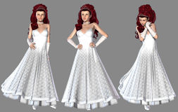 Red Haired Bride Royalty Free Stock Photo