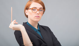 Red-haired businesswoman's porttrait Royalty Free Stock Photo