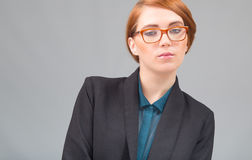 Red-haired businesswoman's porttrait Stock Photo