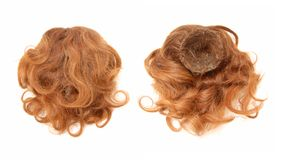 Red-haired chignon. Stock Photos