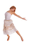 Red haired dancer on white Stock Images