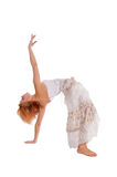 Red haired dancer on white Stock Photo
