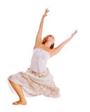 Red-haired dancer on white background Royalty Free Stock Image