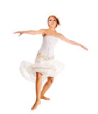 Red-haired dancer on white background Royalty Free Stock Photos