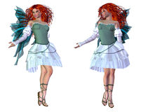 Red haired fairy Stock Photos