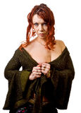 Red haired female. Fashion shot of red haired female Royalty Free Stock Image