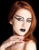 Red-haired female model Royalty Free Stock Photo