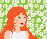 The red-haired girl Royalty Free Stock Images