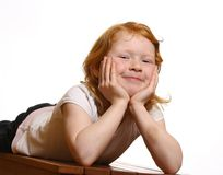 Red-haired girl Royalty Free Stock Photos