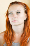 Red-haired girl Stock Photography
