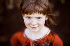 Red-haired girl Stock Image