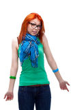 Red haired girl Stock Photo