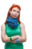 Red-haired girl Stock Images