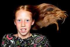 Red haired girl Royalty Free Stock Images