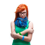 Red-haired girl Royalty Free Stock Image