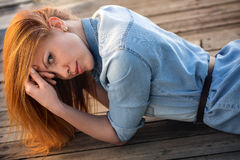 Red-haired girl Royalty Free Stock Photography