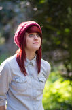 Red haired girl Stock Images