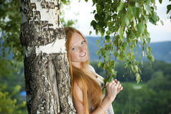 Red-haired girl Royalty Free Stock Photo