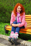 Red haired girl portrait Stock Images