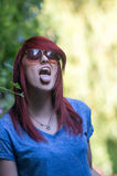Red haired girl Stock Photos