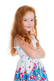 Red haired girl of six years Royalty Free Stock Photography