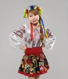 Red-haired girl in the Slavic national costume Royalty Free Stock Photos