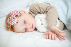 Red-haired girl is sleeping Royalty Free Stock Photography